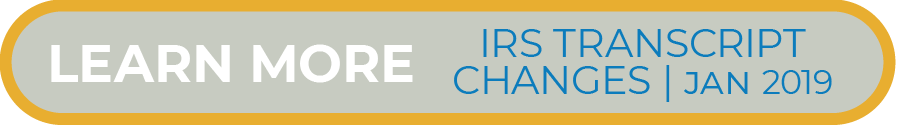 Learn More on IRS Transcript Changes 2019